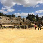 italica amphitheater roman ruins seville