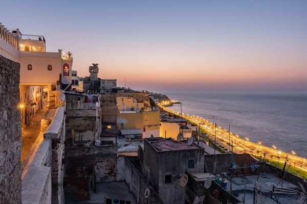 sunset tangier morocco