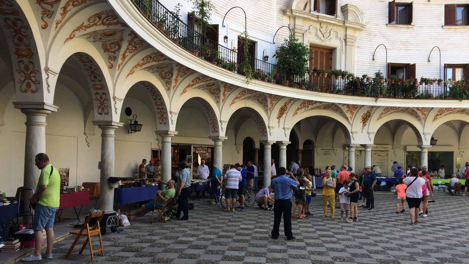 seville cabildo square craft market