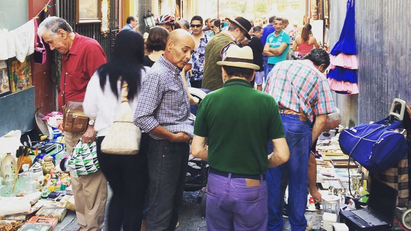seville feria street craft market