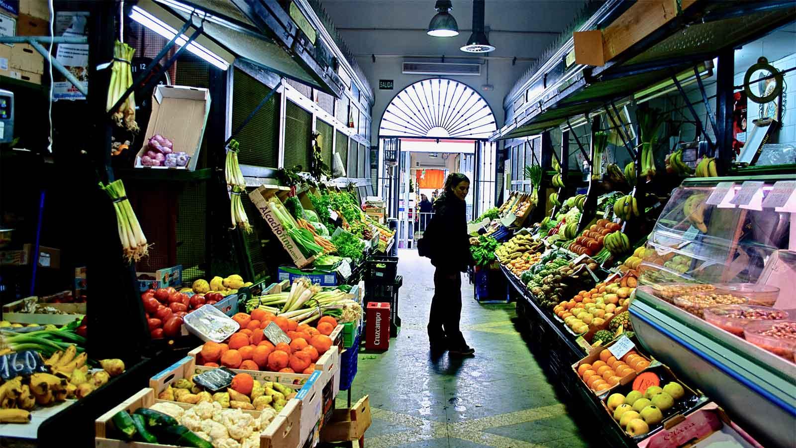 seville calle feria traditional market